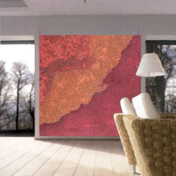 zeitgenössischen Wandmalerei in einem Wohnzimmer